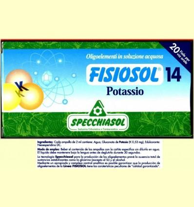 Fisiosol 14 Potassi - Specchiasol - 20 ampolles