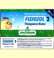 Fisiosol 2 Manganès Coure - Specchiasol - 20 ampolles