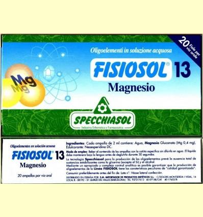 Fisiosol 13 Magnesi - Specchiasol - 20 ampolles