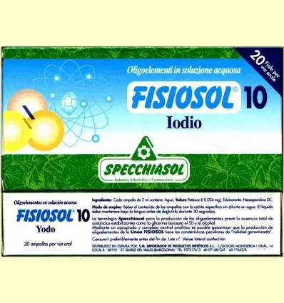 Fisiosol 10 Iode - Iode - Specchiasol - 20 ampolles