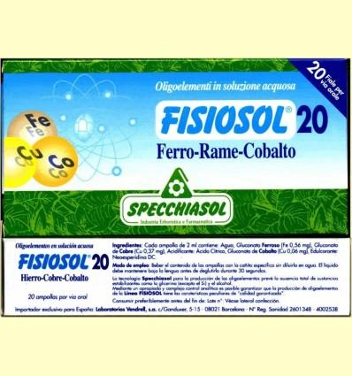 Fisiosol 20 Ferro Coure Cobalt - Specchiasol - 20 ampolles