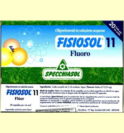 Fisiosol 11 Fluor - Fluor - Specchiasol - 20 ampolles