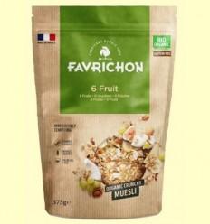 Muesli Crunchy Bio 6 Fruites - Favrichon - 375 grams