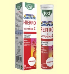 Ferro i Vitamina C Efervescent - Laboratorios Esi - 20 comprimits