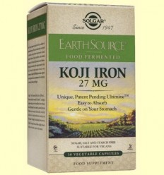 Earth Source Food Fermented Koji Iron - Ferro Fermentad - Solgar - 30 càpsules