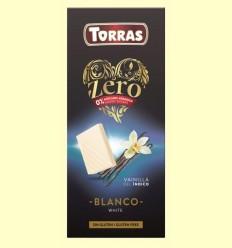 Xocolata Blanc amb Vainilla de l'Índic Zero - Torras - 100 grams