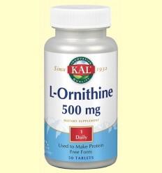 L-Ornithine 500 mg - Laboratorios Kal - 50 comprimits
