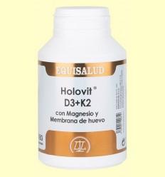 Holovit D3 + K2 amb Magnesi i Membrana d'ou - Equisalud - 180 càpsules