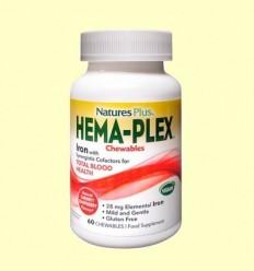 Hema-Plex Masticable - Natures Plus - 60 comprimits