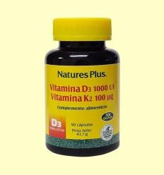 Vitamina D3 Vitamina K2 - Natures Plus - 90 càpsules