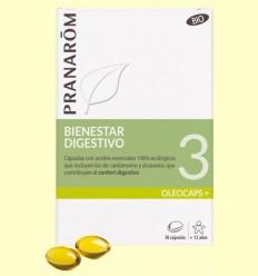 Oléocaps +3 Benestar Digestiu Bio - Pranarom - 30 càpsules