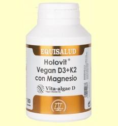 Holovit Vegan D3 i K2 Magnesi - Equisalud - 180 càpsules
