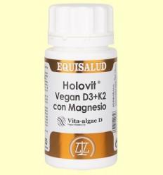 Holovit Vegan D3 i K2 Magnesi - Equisalud - 50 càpsules