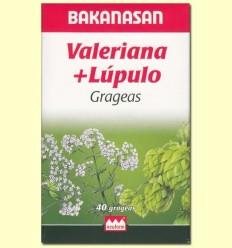 Valeriana + llúpol - Bakanasan - 40 dragees