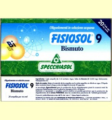 Fisiosol 9 Bismut - Specchiasol - 20 ampolles