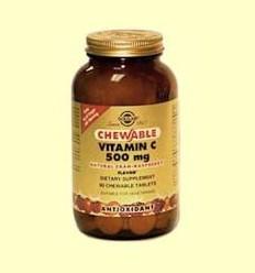Vitamina C 500 mg - Sabor a gerd - Solgar - 90 comprimits masticables