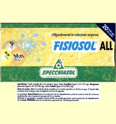 Fisiosol ALL - Specchiasol - 20 ampolles