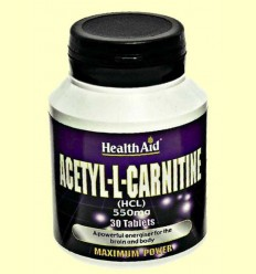Acetil L-Carnitina 550 mg - Health Aid - 30 comprimits