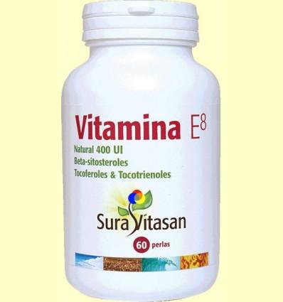 Vitamina E8 Natural 400 UI - Sura Vitasan - 60 perles