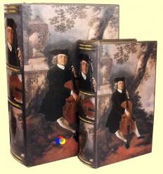 Conjunt dues caixes fusta forma llibre - Signes Grimalt
