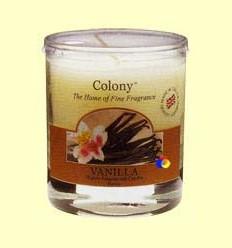 Vela de Cera Perfumada per a la llar - Aroma Vainilla - Colony