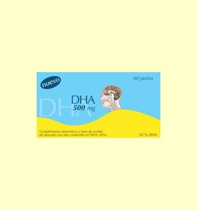 DHA 500 mg - 50% de Omega3 250 mg + Vitamina E - Dieticlar - 60 perles