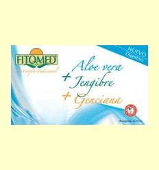 Fitomed D - Aloe Vera + Gingebre + Genciana - Dieticlar - 20 ampolles