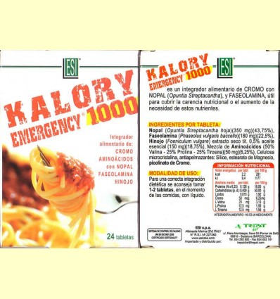 Kalory Emergency 1000 - Laboratoris ESI - 24 pastilles