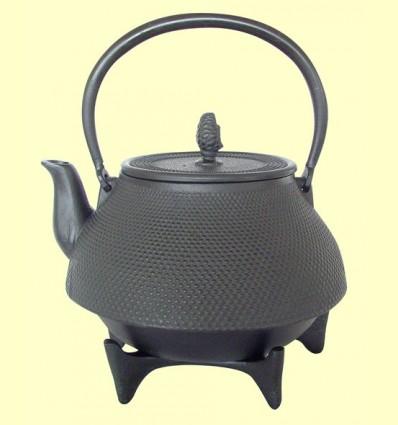 Tetera de Ferro Colat color negre amb Salvamantel - Signes Grimalt - 2,5 litres