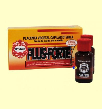 Placenta capil·lar vegetal Plus Forte - D'Shila - 4 vials de 25 ml