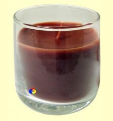 Vela aroma canyella en got de vidre - Color Baby