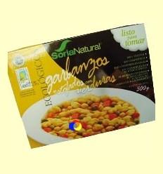 Cigrons Ecològics Estofats amb Verdures - Soria Natural - 300 grams